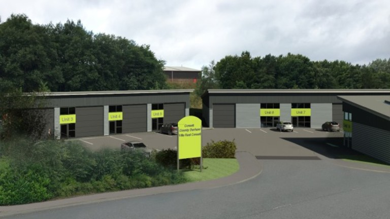 Self have designed industrial units at Consett Business Park in County Durham