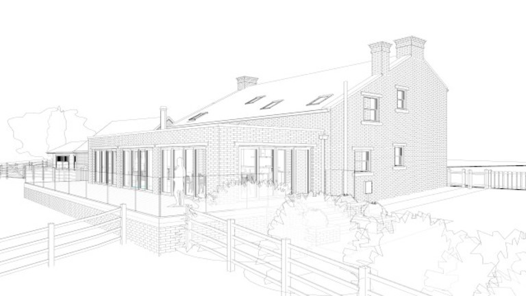 Architects Self have received planning permission to extend and a farmhouse and stable